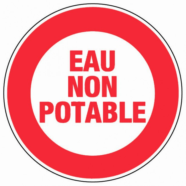Bord Eau non potable